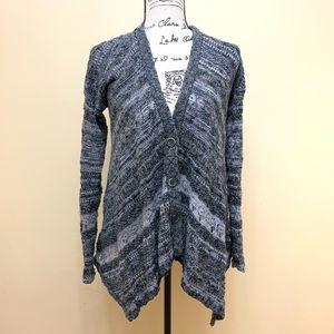 Free People Crochet/Knit Asymmetrical Cardigan